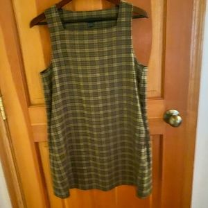 J Crew Vintage 100% wool shift dress olive